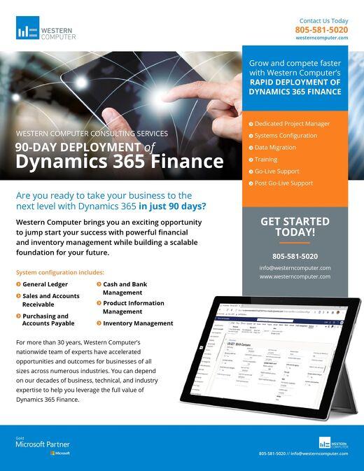 Dynamics 365 Finance 90-Day Deployment