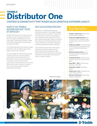 Trimble Distributor One Bundle Datasheet