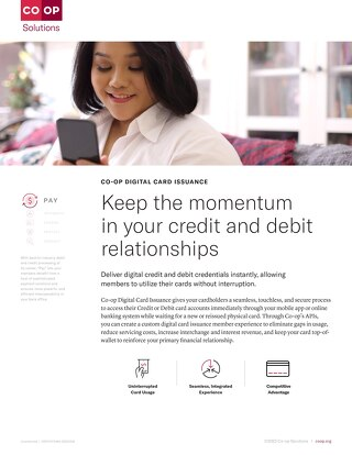 Digital Card Issuance Slipsheet
