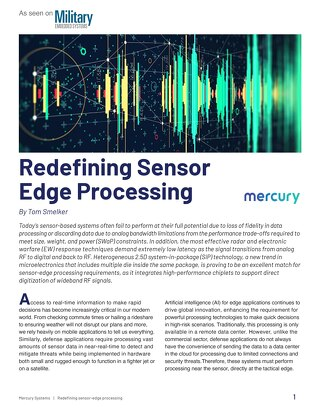 Article:  Redefining Sensor Edge Processing