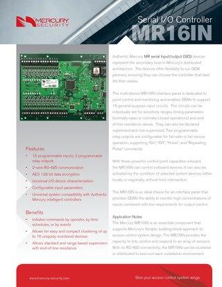 Mercury multi-device MR16IN interface panel