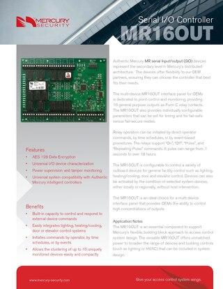 Mercury multi-device MR16OUT interface panel
