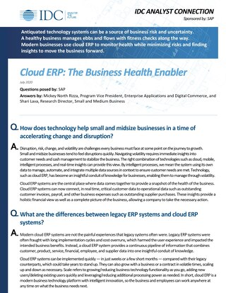Common ERP Questions Answered | IDC Analytics