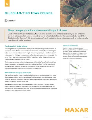 Maxar imagery tracks environmental impact of mine