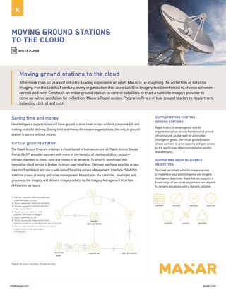 Moving Ground Stations To The Cloud