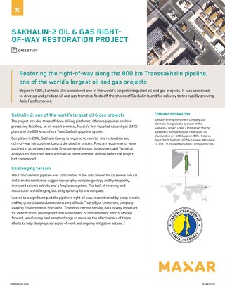 Restoring the right-of-way along the 800 km Transsakhalin pipeline