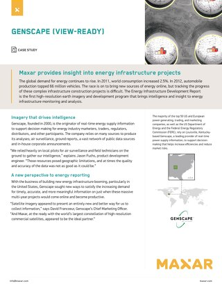 Maxar provides insight into energy infrastructure projects