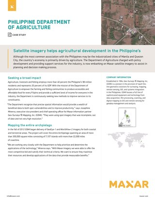 Satellite imagery helps agricultural development in the Philippine's