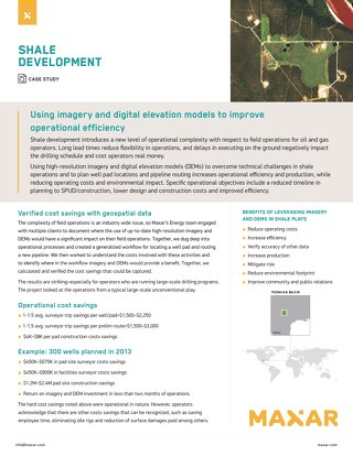 Using imagery and digital elevation models to improve operational efficiency
