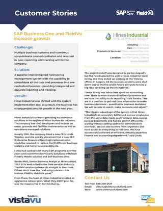 Hines Industrial | Rapid Growth with Adequate Systems