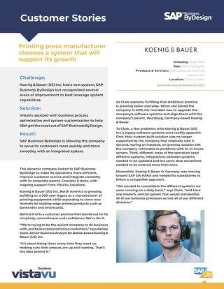 Koenig & Bauer | Better Customer Experience with ERP Optimization