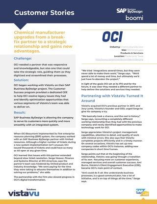OCI | New Value with VistaVu Partnership