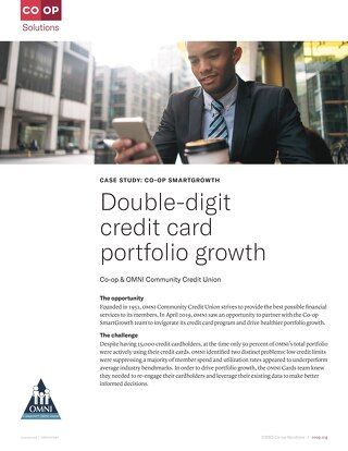 OMNI Community CU Sees Double-Digital Credit Card Portfolio Growth After Partnering With CO-OP SmartGrowth