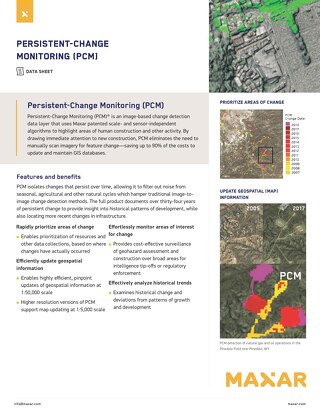 Persistent Change Monitoring (PCM)