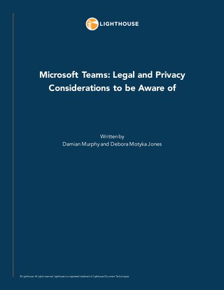 Microsoft Teams Legal and Privacy Considerations to be Aware of