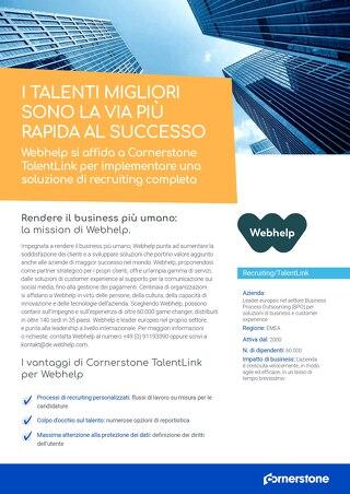 Webhelp si affida a Cornerstone TalentLink per implementare una soluzione di recruiting completa
