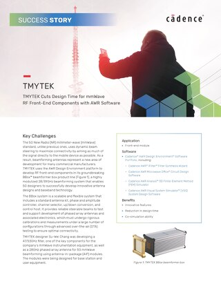 TMYTEK Cuts Design Time for mmWave RF Front-End Components