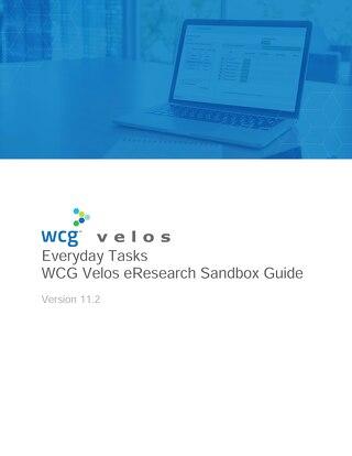 WCG Velos CTMS Sandbox Guide - Everyday Tasks
