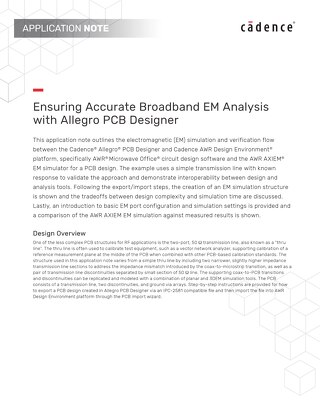 Ensuring Accurate Broadband EM Analysis with Allegro PCB Designer