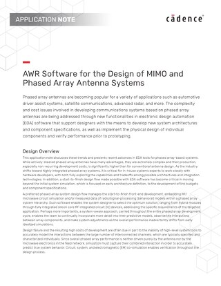 Design of MIMO and Phased Array Antenna Systems