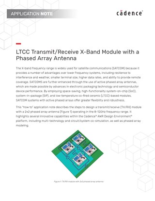 LTCC Transmit/Receive X-Band Module with a Phased Array Antenna