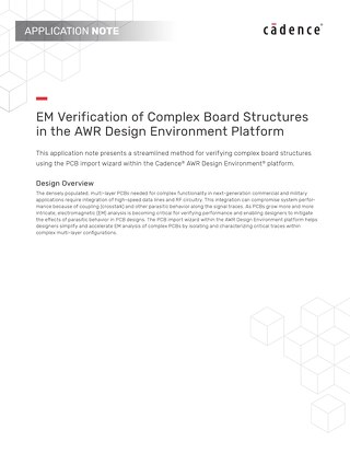 EM Verification of Complex Board Structures