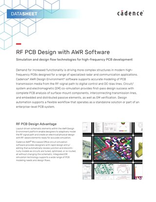RF PCB Design with AWR Software
