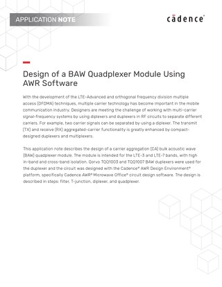 Design of a BAW Quadplexer Module