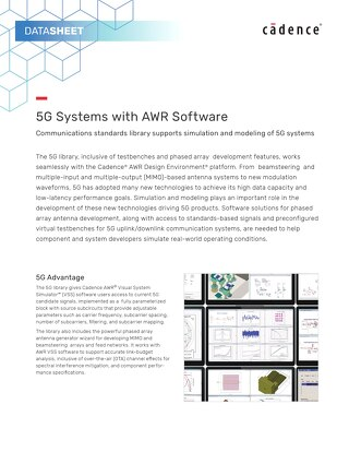 5G Systems with AWR Software