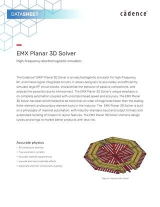 EMX Planar 3D Solver Datasheet