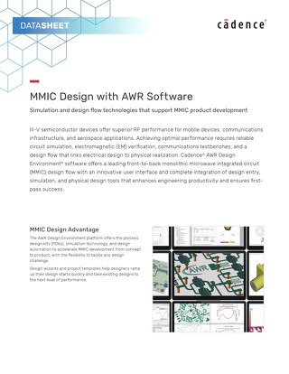 MMIC Design with AWR Software