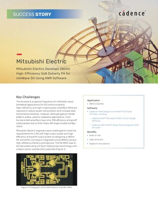 Mitsubishi Electric Develops 28GHz High-Efficiency GaN Doherty PA for mmWave 5G