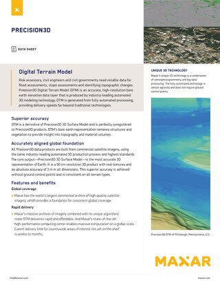 Digital Terrain Model (DTM)