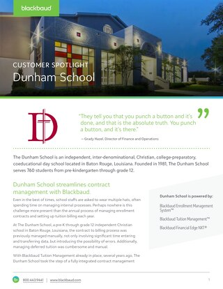 Customer Spotlight: The Dunham School