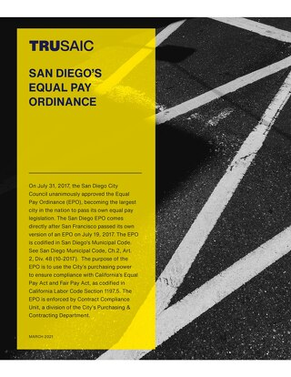 San Diego Equal Pay Ordinance