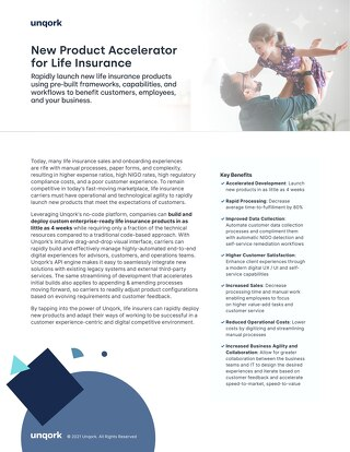 Solution Brief: New Product Accelerator for Life Insurance
