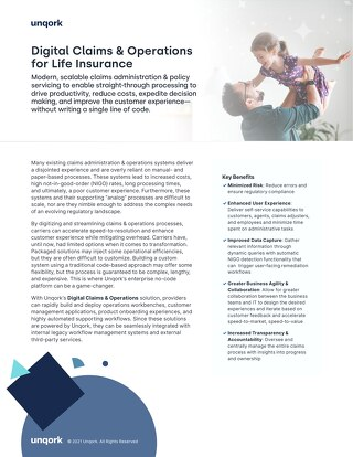 Solution Brief: Digital Claims & Operations for Life Insurance