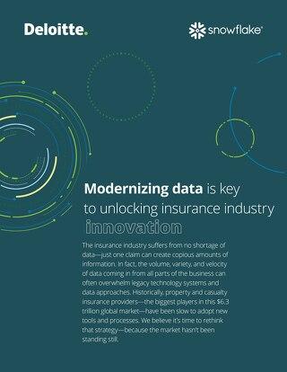 Modernizing data is key to unlocking insurance industry innovation - Deloitte and Snowflake