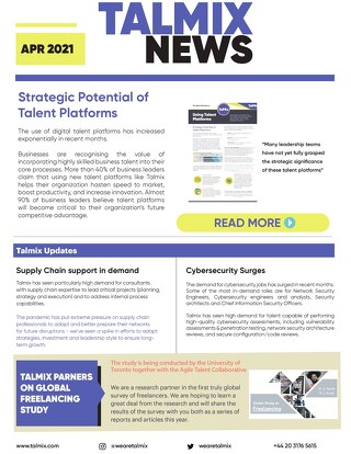 Talmix Newsletter (Apr 21)