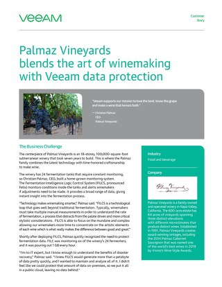 Palmaz Vineyards blends the art of wine making with Veeam data protection