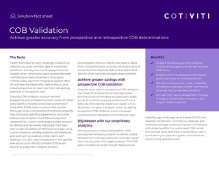 COB Validation solution