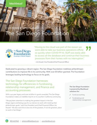 Customer Spotlight: San Diego Foundation