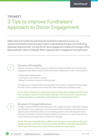 3 Tips to Improve Fundraisers Approach to Donor Engagement
