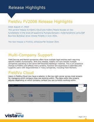 FV2008 | Release Highlights