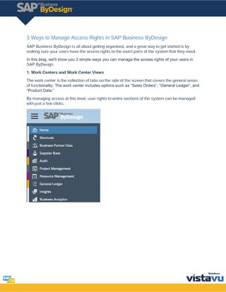 3 Ways to Manage Access Rights | SAP Business ByDesign