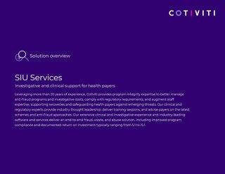 Cotiviti SIU Services