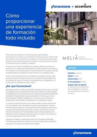 """Estudio de caso Melia: una experiencia de aprendizaje """"all inclusive'"""