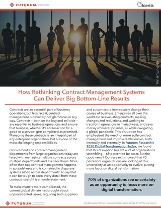 How Rethinking Contract Management Systems Can Deliver Big Bottom Line Results - Futurum Report