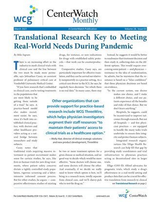 Translational Research Key to Meeting Real-World Needs During Pandemic