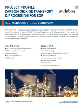 Carbon Dioxide Transport & Processing for EOR